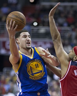 Klay today: still a star, but this time for the Warriors.
