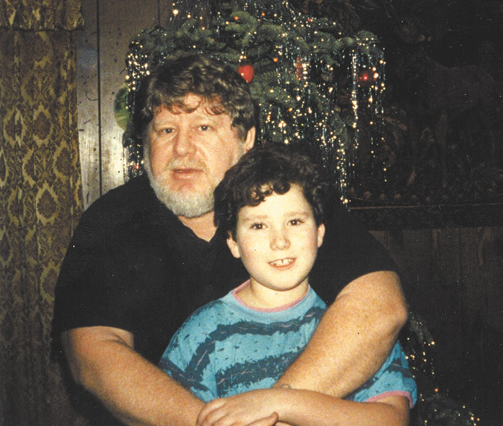 A family photo taken during the holidays when Alexander was a child.