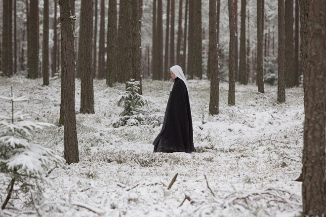 A nun frantically seeks medical help for a fellow sister in The Innocents