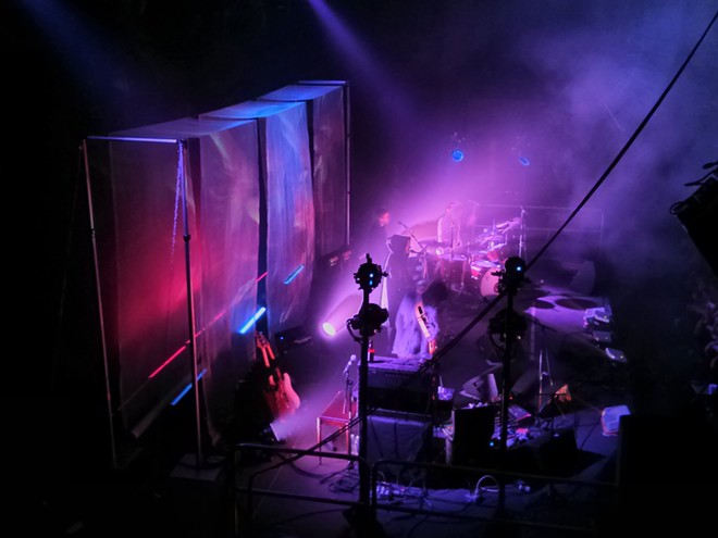 Vocalist / keyboardist Victoria Legrand donned a sparkly hood on a few occasions. - CHEY SCOTT