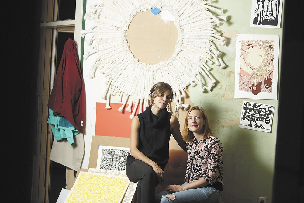 Richmond Art Collective co-founders Anne-Claire Mitchell (left) and Rebecca Chadwell. - YOUNG KWAK