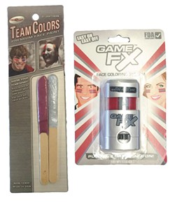 WSU Team Colors facepaint and Game FX face stick.