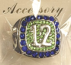 Seahawks fan No. 12 ring