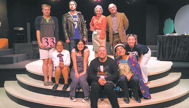 The cast of the 25th Annual Putnam County Spelling Bee, the Modern's first production of the season.