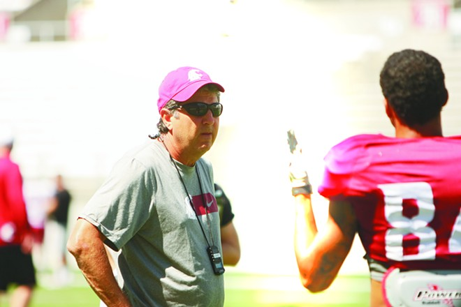 Mike Leach made headlines this week when he accused police of targeting his players when making arrests - YOUNG KWAK