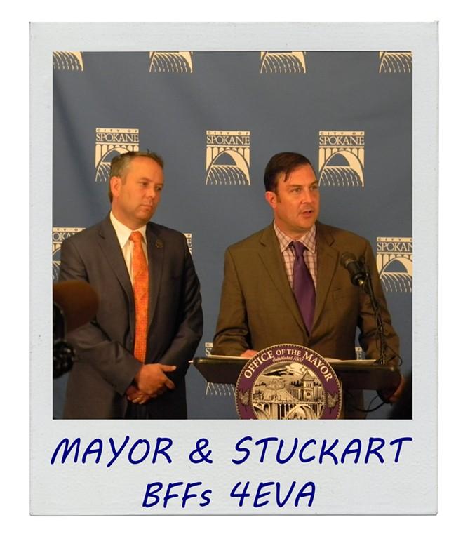 Condon and Stuckart, friends again