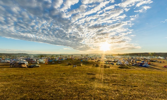 Protests against the Dakota Access Pipeline have drawn thousands. - JEFF FERGUSON