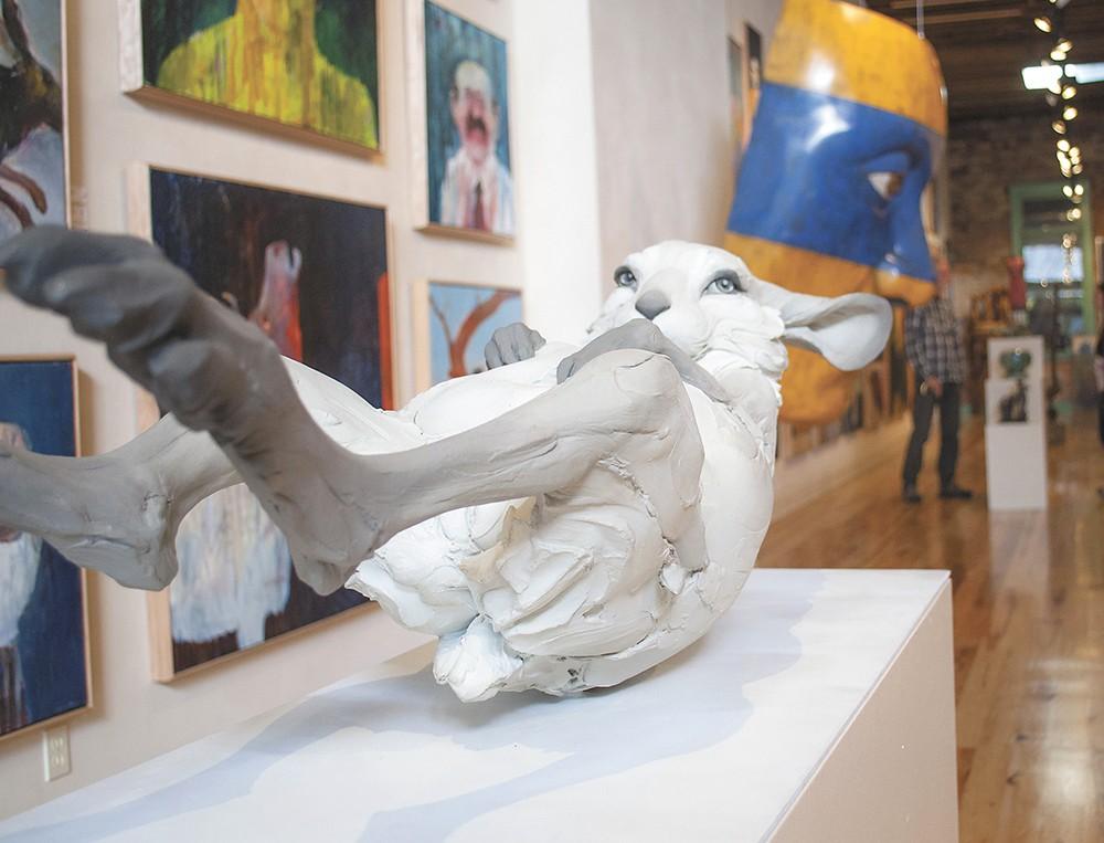 "Art Spirit features the work of regional artists, like Beth Cavener's ""Unrequited."""