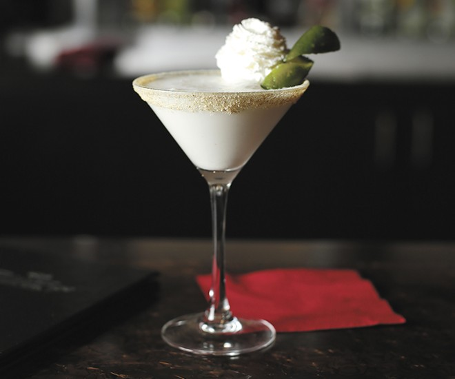 The key lime pie martini from Bistango Martini Lounge. - YOUNG KWAK