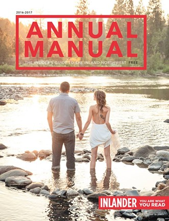 Megan Kennedy's winning cover image of a local couple at the Spokane River.