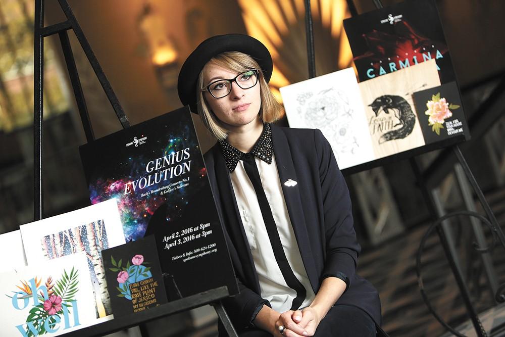 Marina Gulova is just 22, but she's already making waves in Spokane's artistic community. - YOUNG KWAK