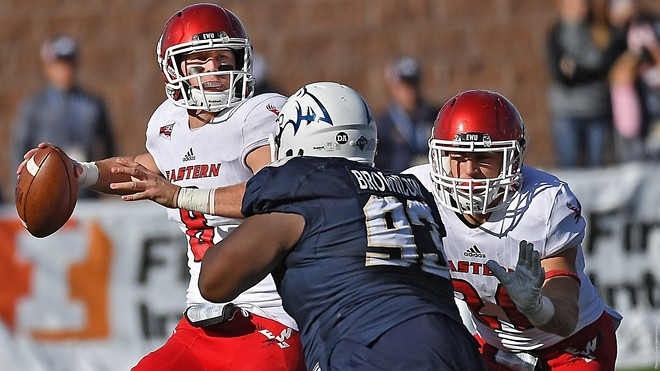 Eagles quarterback Gage Gubrud is rewriting the record books in Cheney in his first year. - EWU ATHLETICS