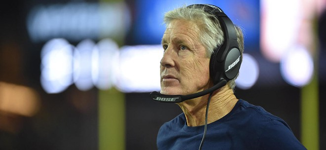 Even Pete Carroll can't believe what he saw Sunday night. - SEAHAWKS.COM