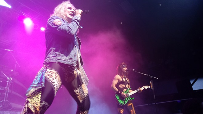 Singer Michael Starr and guitarist Satchel of Steel Panther. - DAN NAILEN