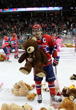 Bring a teddy to toss on the ice when the Chiefs score their first goal on Dec. 9.