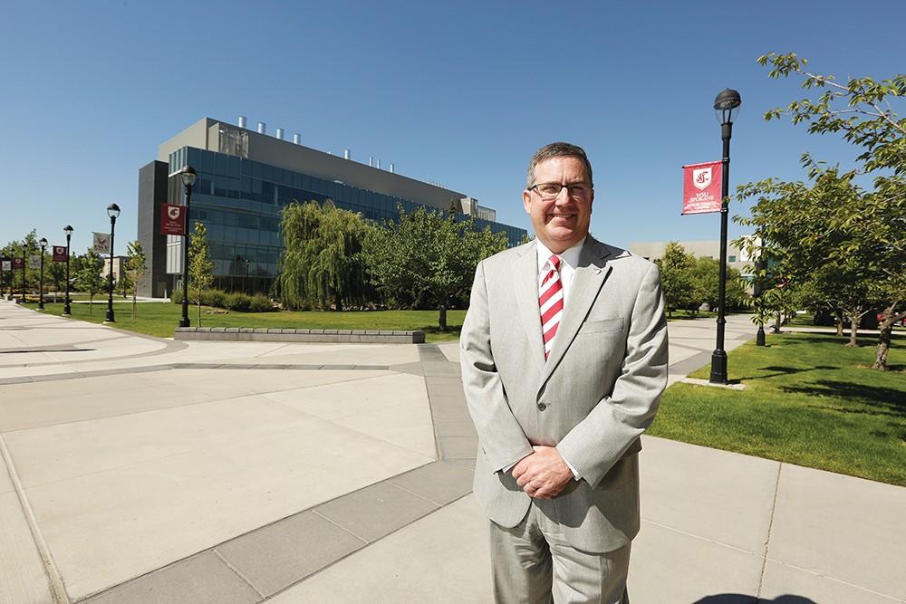 Washington State University President Kirk Schulz at the WSU-Spokane campus. - YOUNG KWAK