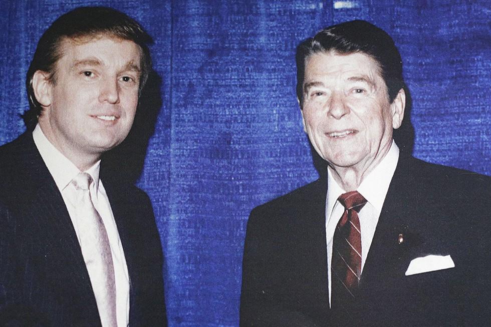 President-elect Donald Trump with '80s icon Ronald Reagan