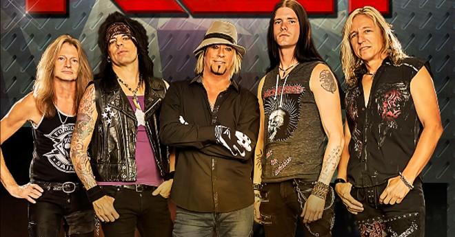 Drummer Bobby Blotzer (center) leads this version of RATT.