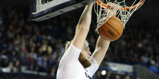 Gonzaga center Przemek Karnowski was a beast against Arizona on Saturday.