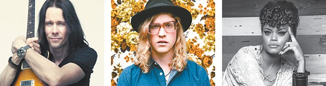 From left, Myles Kennedy, Allen Stone and Andra Day all have ties to Spokane.