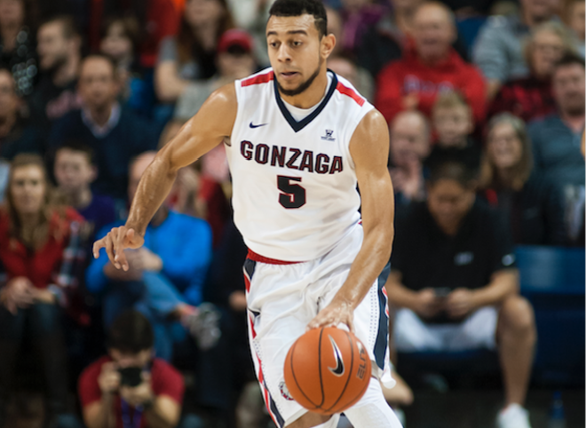 Former Husky-turned-Zag Nigel Williams-Goss torched his old team last night for 23 points. - AUSTIN ILG PHOTO