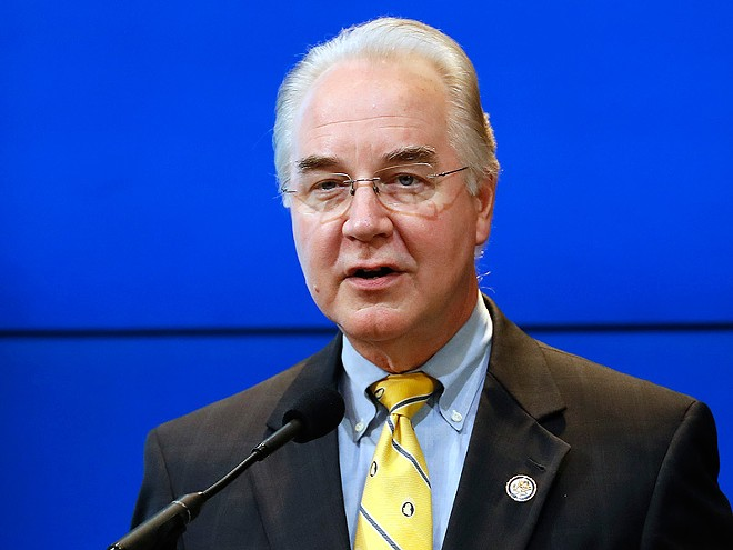 Tom Price, a controversial choice to head the Department of Health and Human Services in the Trump administration.