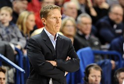 Gonzaga coach Mark Few got the team to buckle down on D at halftime. - GONZAGA ATHLETICS