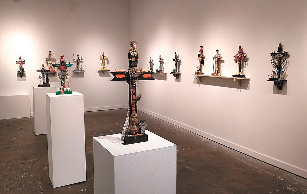 Ross Coates, a retired art professor, brings this sculptural show to Kolva-Sulliivan this month. - CHEY SCOTT