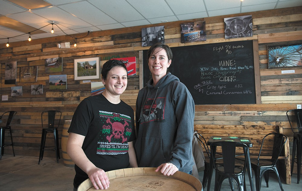 Badass Backyard Brewing owner Charlene Honcik (left) and head brewer Kendra Wiiest in the brewery's new location. - DEREK HARRISON