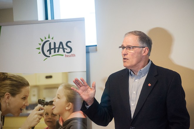 Gov. Jay Inslee warns that repealing Obamacare without a replacement ready to go would be a disaster for Washington residents. - DANIEL WALTERS PHOTO
