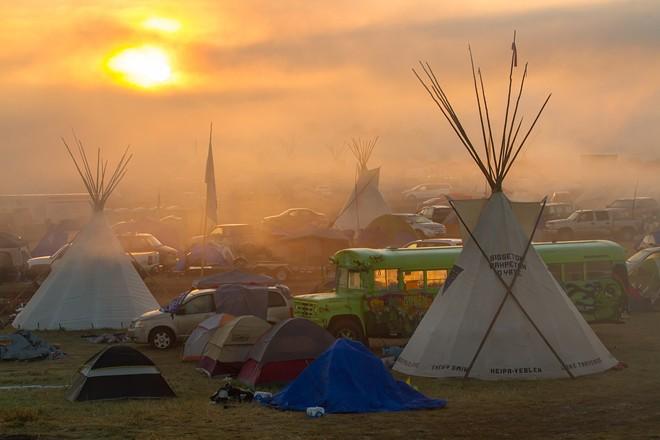 A Dakota pipeline protest camp last fall. - JEFF FERGUSON