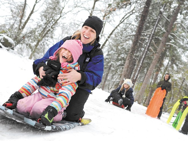 The more pleasant side of snow — playing with your kids. - CHRISTIAN WILSON