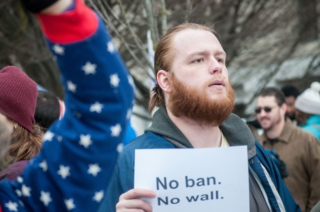 """No ban. No wall."" - DANIEL WALTERS PHOTO"
