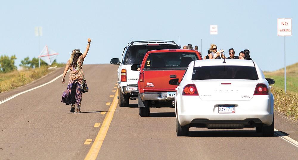 Protesters against the Dakota Access Pipeline. - JEFF FERGUSON