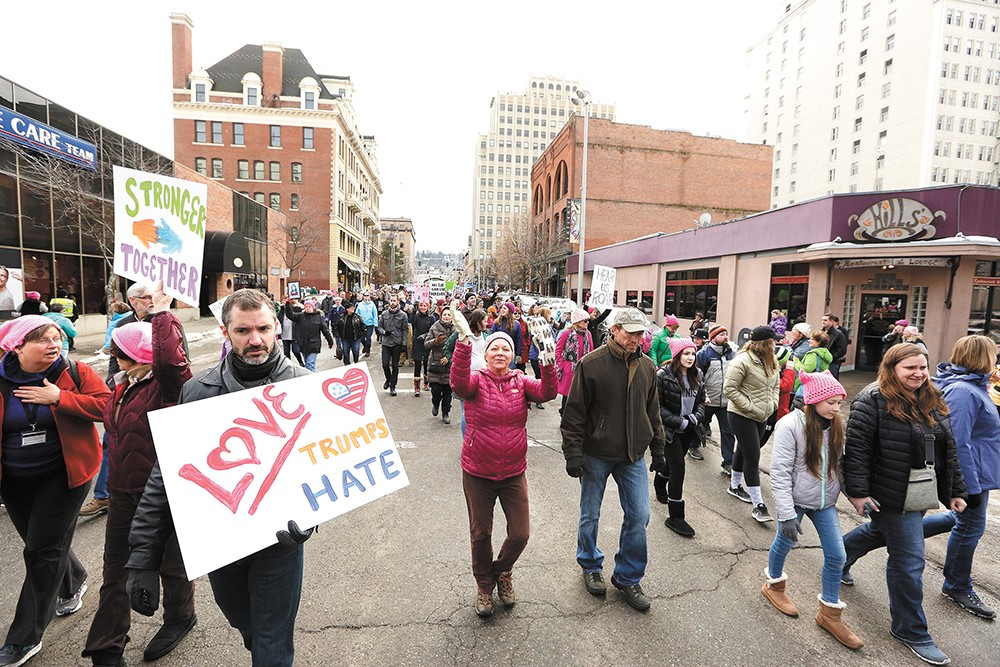 Thousands turned out for Spokane's march. - YOUNG KWAK