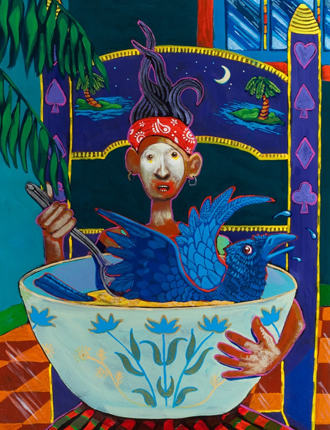"""See art inspired by Salish folktales (above), interactive video installations and more at """"Saturate,"""" a visual arts tour this weekend focused on artists from ethnic or cultural minorities. - ART BY RIC GENDRON"""