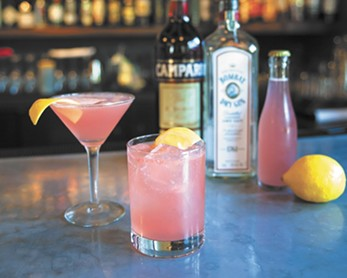 Enjoy Clover's Jasmine Fizz cocktail as part of its Valentine's tasting menu, offered Feb. 10-14.