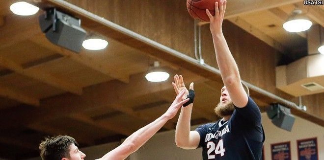 Przemek Karnowski had a dominant game against St. Mary's on Saturday. - GONZAGA ATHLETICS