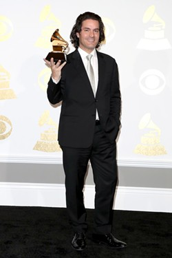 Zuill Bailey, winning a Grammy last night. Next week: his 2017 Bach Festival kicks off in Spokane.