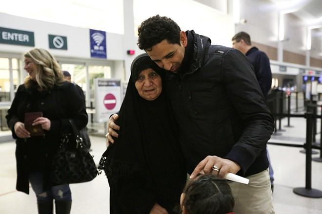 Sabeeha Al-Sawaedi with her son Assad. - YOUNG KWAK PHOTO
