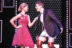 Rose Hemingway and Curt Hansen perform in the traveling production of Kinky Boots. - MATTHEW MURPHY