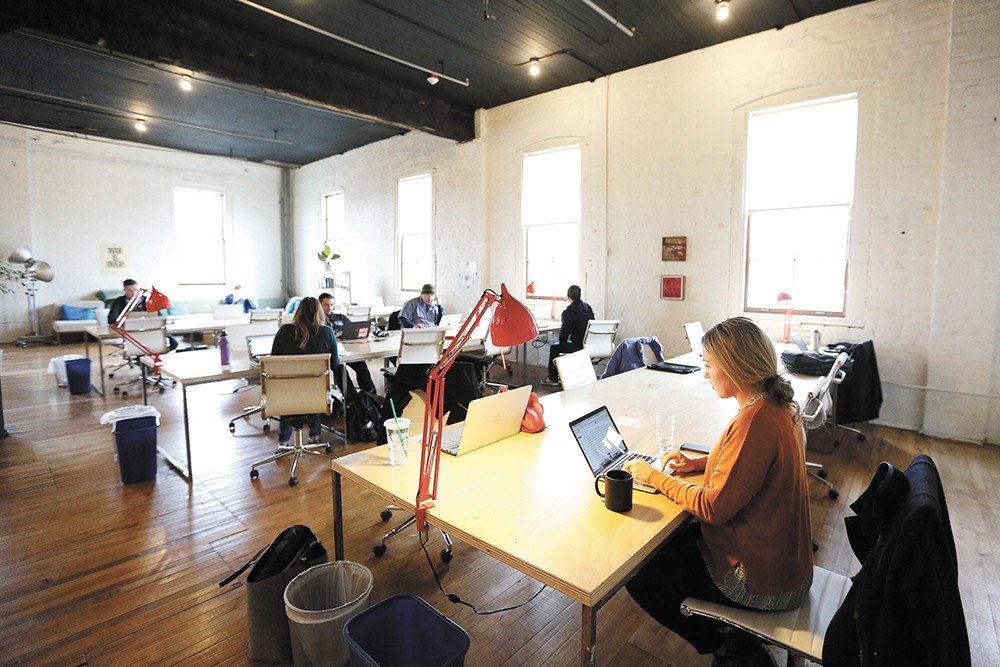 Local tech freelancers rely on coworking businesses like Fellow (pictured) for convenient work space and collaboration. - YOUNG KWAK