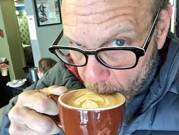 Brown sampled Indaba Coffee's flat white while here in 2015.