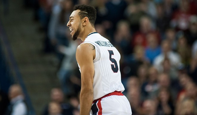 Nigel Williams-Goss was one of the three Gonzaga transfers who came up big in their first WCC tournament game. The Zags take on Santa Clara Monday night in the semi-finals.