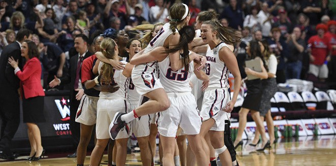 Gonzaga's women's team took the WCC tourney title on Tuesday, and they'll head to the NCAA tournament as a result. - GONZAGA ATHLETICS