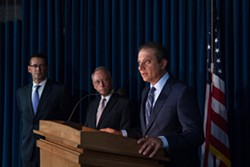 Preet Bharara was asked to step down along with 45 other United States attorneys, and said he was fired on Saturday after refusing to do so. - BRYAN R. SMITH/NEW YORK TIMES