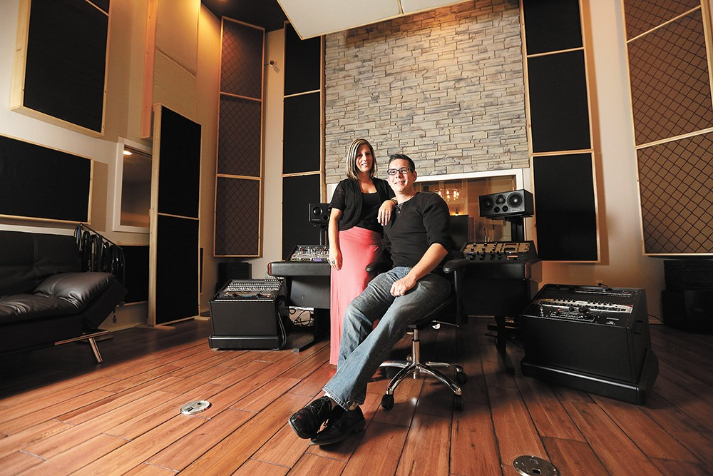 Amplified's Mandy and Jimmy Hill, in their new studio space. - YOUNG KWAK