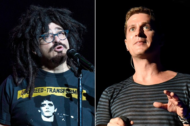 Adam Duritz of Counting Crows (left) and Rob Thomas of Matchbox 20