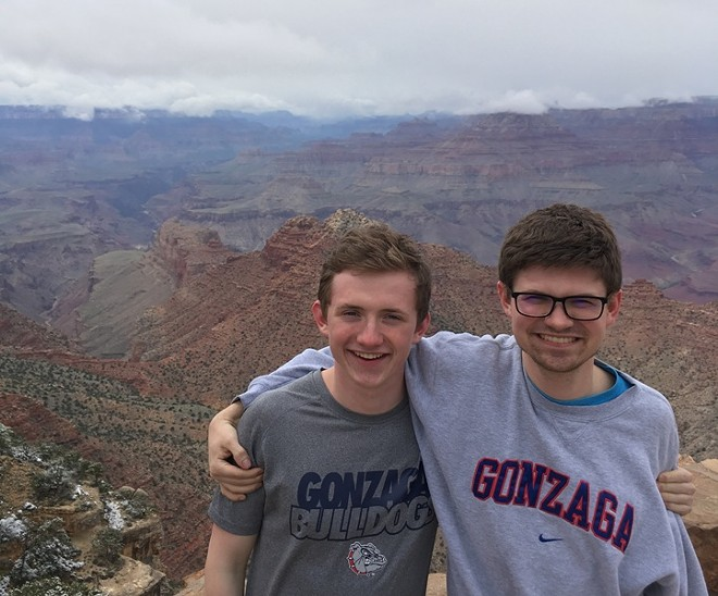 Brothers Tommy (left) and Andrew Walters at the Grand Canyon. - TUCK CLARRY