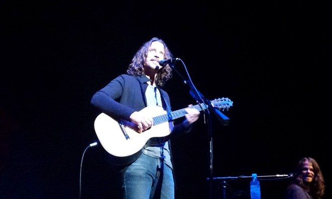 Chris Cornell last summer performing at The Fox in Spokane. - DAN NAILEN